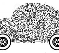 6636198-Cars-spare-parts-and-service-icons-in-form-of-car-Stock-Vector-car-auto-icon